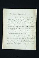 Fokos (Fuchs) Dávid (Rafael, nyelvész, néprajztudós, az MTA tagja, 1884-1977) saját kézzel írt és aláírt levele dr. Heller Bernáthoz