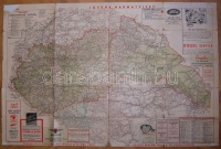 magyarország autóútjai térkép 1940 Gottlieb Litográfia Magyarország autóútjai és közigazgatási  magyarország autóútjai térkép