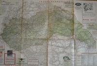 magyarország autóútjai térkép Magyarország autóútjai térkép és közigazgatási beosztása 1940  magyarország autóútjai térkép