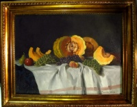 SZÁSZ ISTVÁN ( 1878- 1965 ): Dinnyés csendélet | Festmény, Zsolnay ...