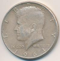 Amerikai Egyesült Államok 1964. 1 2  Ag  Kennedy  T 2 kis patina USA 1964.  1 2 Dollar Ag  Kennedy . 3ddaf650aa