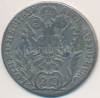 Ausztria 1783A 20Kr Ag II.József T 3 kis ph. Austria 1783A 20 Kreuzer Ag   Franz II  C F small edge. 2914e86dd1